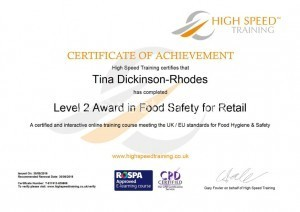Food Hygiene and Safety Certificate