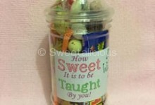 Teacher's Personalised Sweet Jar